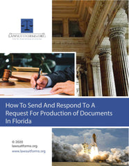 Florida request for production of documents