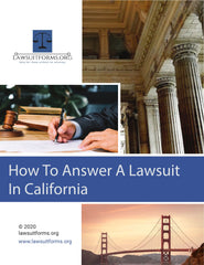How to answer a lawsuit in California