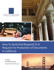 California request for production of documents