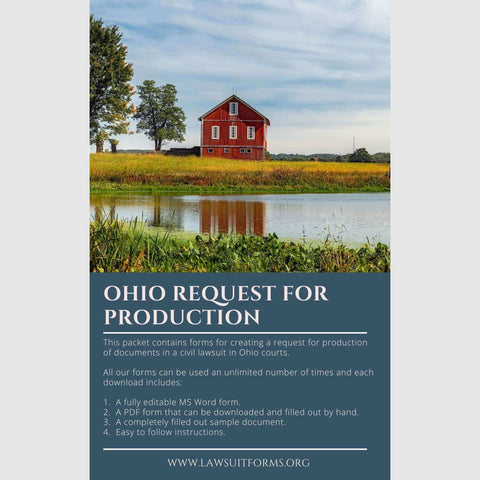 Ohio Request for Production Form