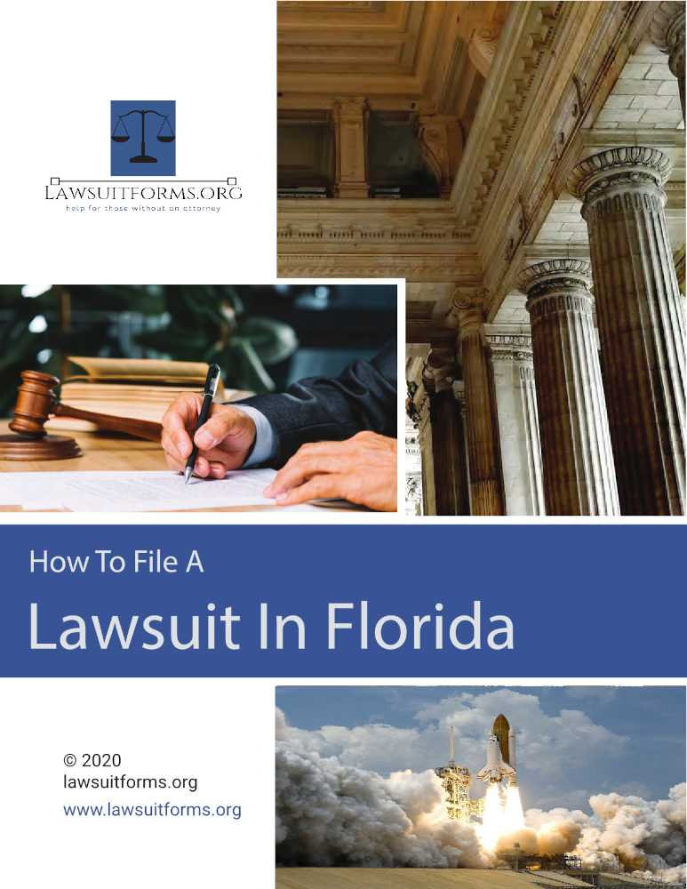 How to file a civil lawsuit in Florida