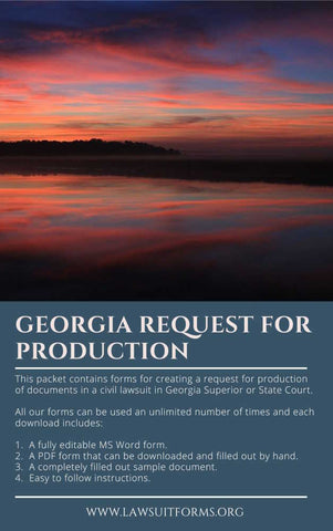 Georgia request for production of documents