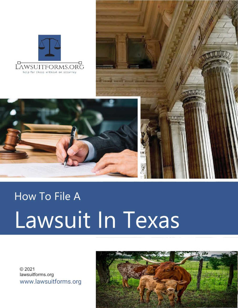 How to file a lawsuit in Texas
