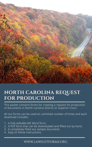 North Carolina request for production form