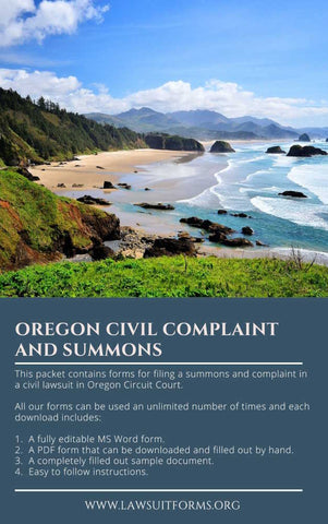 Oregon civil summons and complaint form