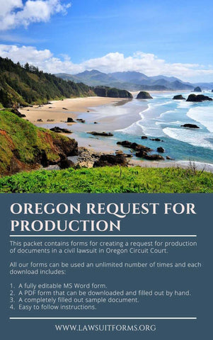 Oregon request for production of documents form