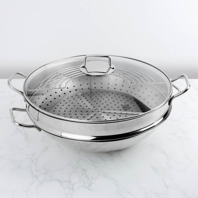 Hutch Wok Steamer with Glass Lid