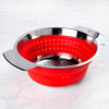 Hutch Collapsible Silicone Colander Red