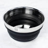 Hutch Collapsible Silicone Mixing Bowl Black