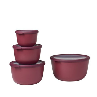 Mepal Multi Bowl Set 4pc Oval Berry RST62330BRY