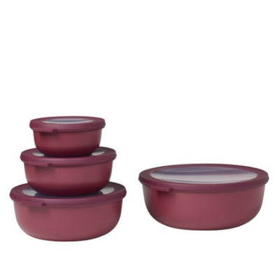 Mepal Multi Bowl Set 4pc Round Berry RST62320BRY