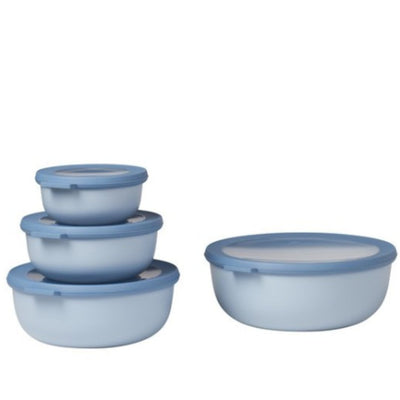 Mepal Multi Bowl Set 4pc Round Blue RST62320BLU