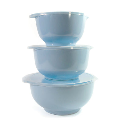 Rosti Margrethe 3 pc Bowl and Lid Set Blue RST3000RB