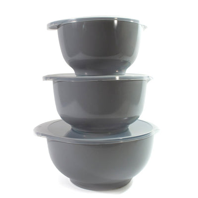 Rosti Margrethe 3pc Bowl and Lid Set Grey RST3000GY