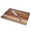Swissmar Acacia Board and Cheese Knife Set CS0345