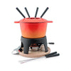 Swissmar Sierra 11 Piece Orange Fondue Set F66695