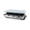 Swissmar Stelvio 8 Person Brushed Stainless Steel Raclette with Granite Stone Top KF-77081