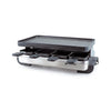 Swissmar Stelvio 8 Person Brushed Stainless Steel Raclette with Reversible Cast Aluminum Grill Plate KF-77080