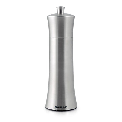 Swissmar Torre Brushed Stainless Steel Pepper Mill 8 inch SMP2005SS