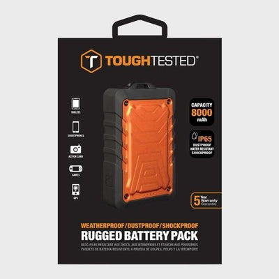Tough Tested 8000mAh Powerbank Rugged Water Resistant IP65 3