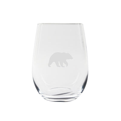 Cuisivin Canadiana Animal Print Stemless Wine Glass 6Pk