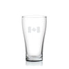 Cuisivin Canadiana Canada Print Beer Glass 6Pk