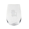 Cuisivin Canadiana Muskoka Print Stemless Wine Glass 6Pk