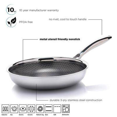 Hutch AL P Honeycomb Frying Pan - Features