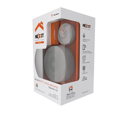 Nexxt Smart Home Indoor Wifi Motion and Siren Security Kit