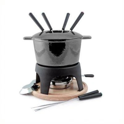 Swissmar 11 Piece Sierra Cast Iron Fondue Set