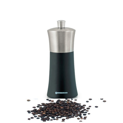 Swissmar Torre Black Matte Pepper Mill with Stainless Steel Top