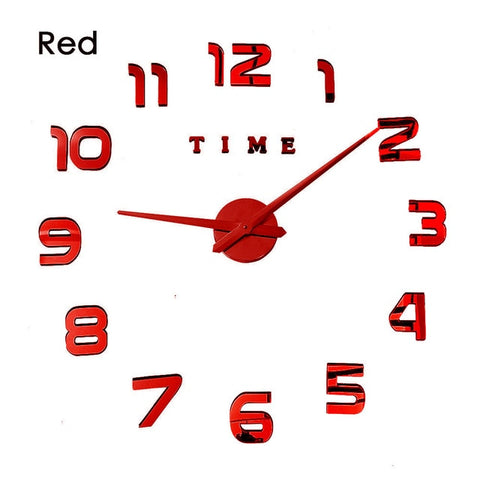 3D Luminous Real Big Wall Clock Rushed Mirror Wall Quartz Large Wall Clocks With 60% off And Free Shipping
