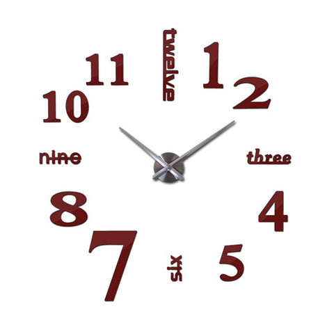 Affordable DIY Mirror effect Wall Clock With 60% off And Free Shipping