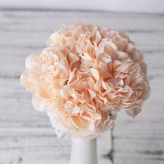 1 Bouquet 5 Heads Artificial Silk Peony Flowers High Quality Artificial Flowers With 60% off And Free Shipping