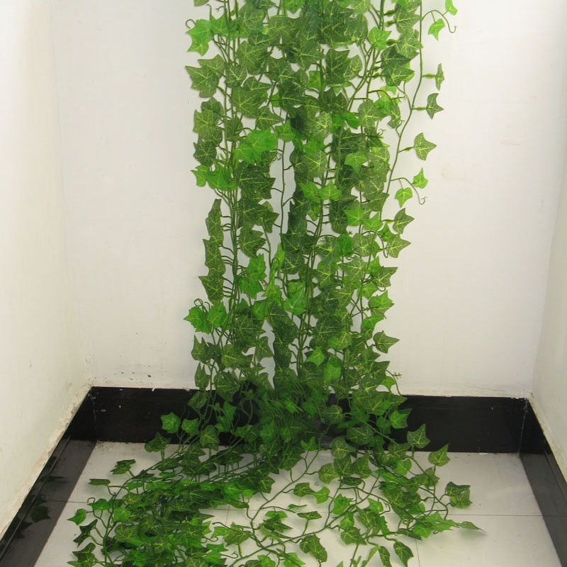 2.4M Artificial Ivy Green Leaf Garland Plants Vine Artificial Flowers With 60% Off and Free Shipping