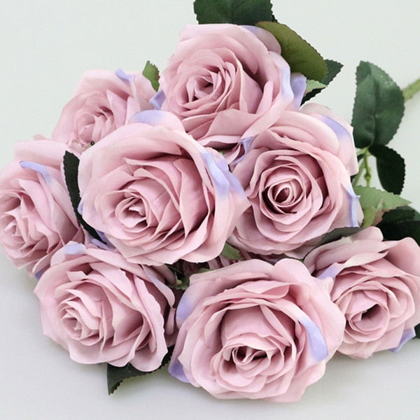 Artificial Silk 1 Bunch French Rose Floral Bouquet Artificial Flowers With 60% Off and Free Shipping