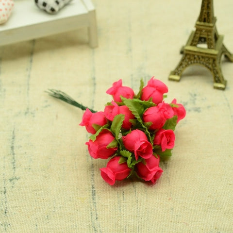 12pcs Silk Roses Bouquet DIY Christmas Garlands Vases With 60% Off and Free Shipping