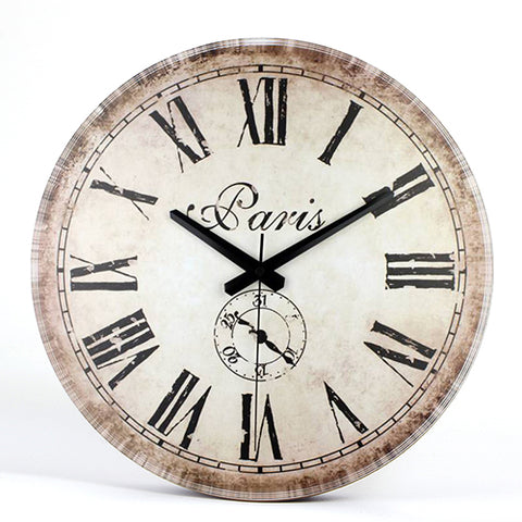 Antique Clock Brief Design Silent Home Cafe Office Wall Clocks With 60% off And Free Shipping