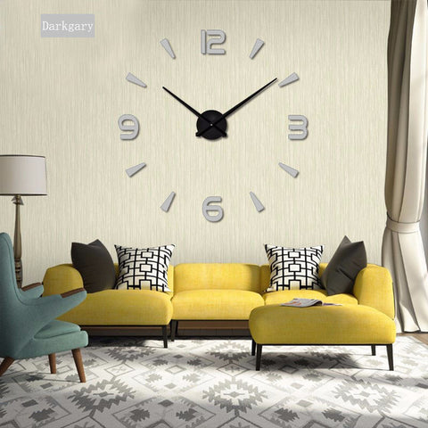 2019 New High Quality 3D Wall Stickers Wall Clock Creative Fashion Living Room Wall Clocks With 60% off And Free Shipping