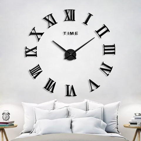 2019 New Home Decoration Wall Clock Big Mirror Wall Clock With 60% off And Free Shipping