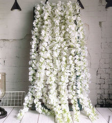 120cm long Artificial Wisteria Flower Vine Silk Hydrangea rattan DIY Wedding birthday party Decoration Wall backdrop flowers