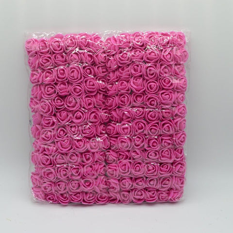 144pcs/bag pompon Foam roses bouquet for home wedding decor Christmas wreath diy Garlands gifts scrapbooking artificial flowers