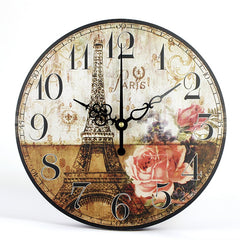 Home Decoration Large Watch Wall Clock Circular Vintage Wall Clock With Free Shipping