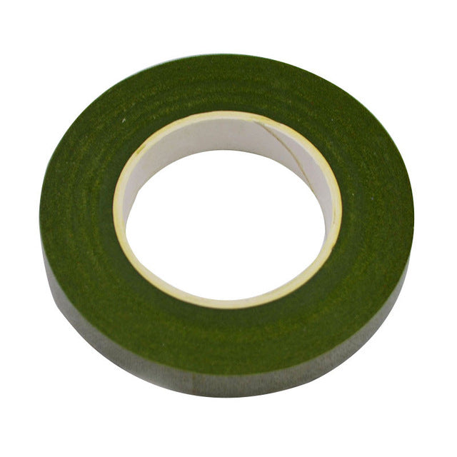 30 Yard 12MM Floral Stem Tape Corsages Buttonhole Artificial Flower Stamen Wrap Florist Green Tapes Nylon Flower Supplies