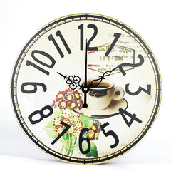 Vintage Wall Clocks Simple Life Design Silent Home Cafe Office Wall Decor Clocks With Free Shipping
