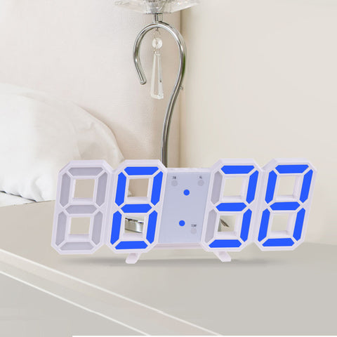 Anpro 3D Large LED Digital Wall Clock Date Time Celsius Nightlight Display Table Desktop Clocks Alarm Clock With Free Shipping