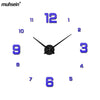 Image of Modern Design 3d Real Big Wall Clock Rushed Quartz Wall Clocks With 60% off And Free Shipping