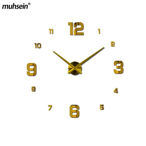 Modern Design 3d Real Big Wall Clock Rushed Quartz Wall Clocks With 60% off And Free Shipping