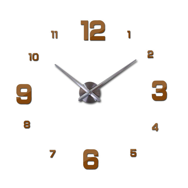 Beautiful Black 3d Wall Clock De Pared Large Wall Clocks With 60% off And Free Shipping