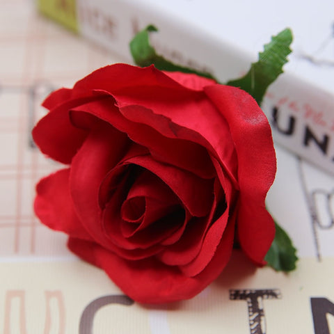Red Rose 10pcs Artificial Flowers 6 Color Diameter 9cm Rose With 60% off And Free Shipping